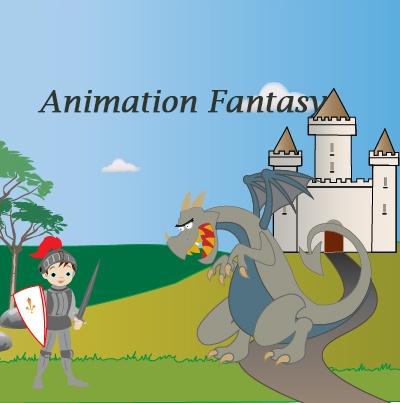 Motion design Animation Fantasy . Un chevalier se prépare à combattre le dragon