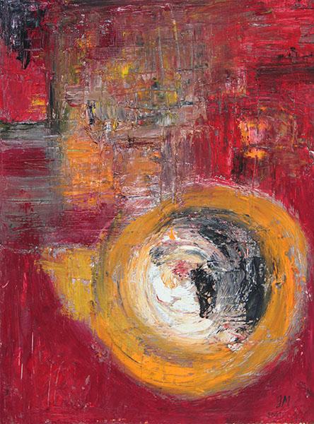 Création artsitique : abstrait rouge et feu