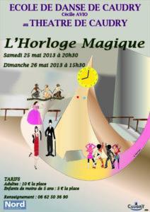 Affiche pour spectacle Horloge magique