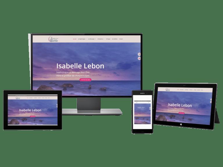 création de site internet Isabelle Lebon