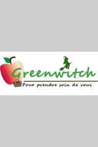 Etude d'un logo pour magasin bio une sorcière verte et une pomme