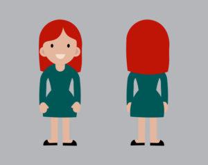 Personnage d'illustration jeune fille motion design