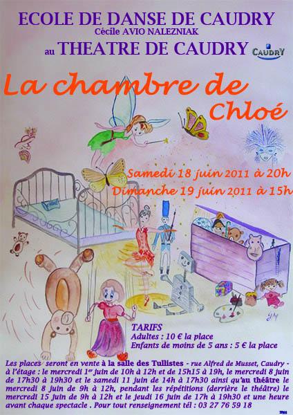 La chambre de Chloé : Affiche spectacle