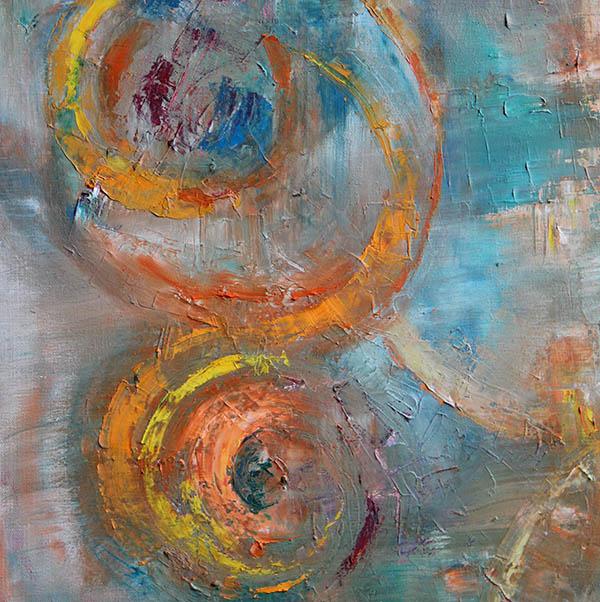 Web design et arts graphiques abstrait huile sur toile nuance de vert et ocre