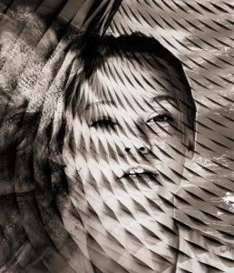 Webdesign : photomontage désintégration d'une visage
